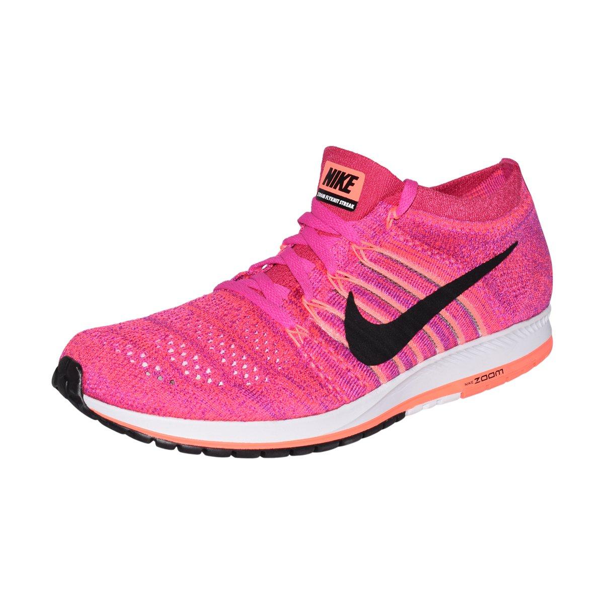 NIKE Flyknit Streak Unisex Running Shoe (Fireberry/Black-Racer Pink, 8 D(M) US/9.5 B(M) US) by NIKE