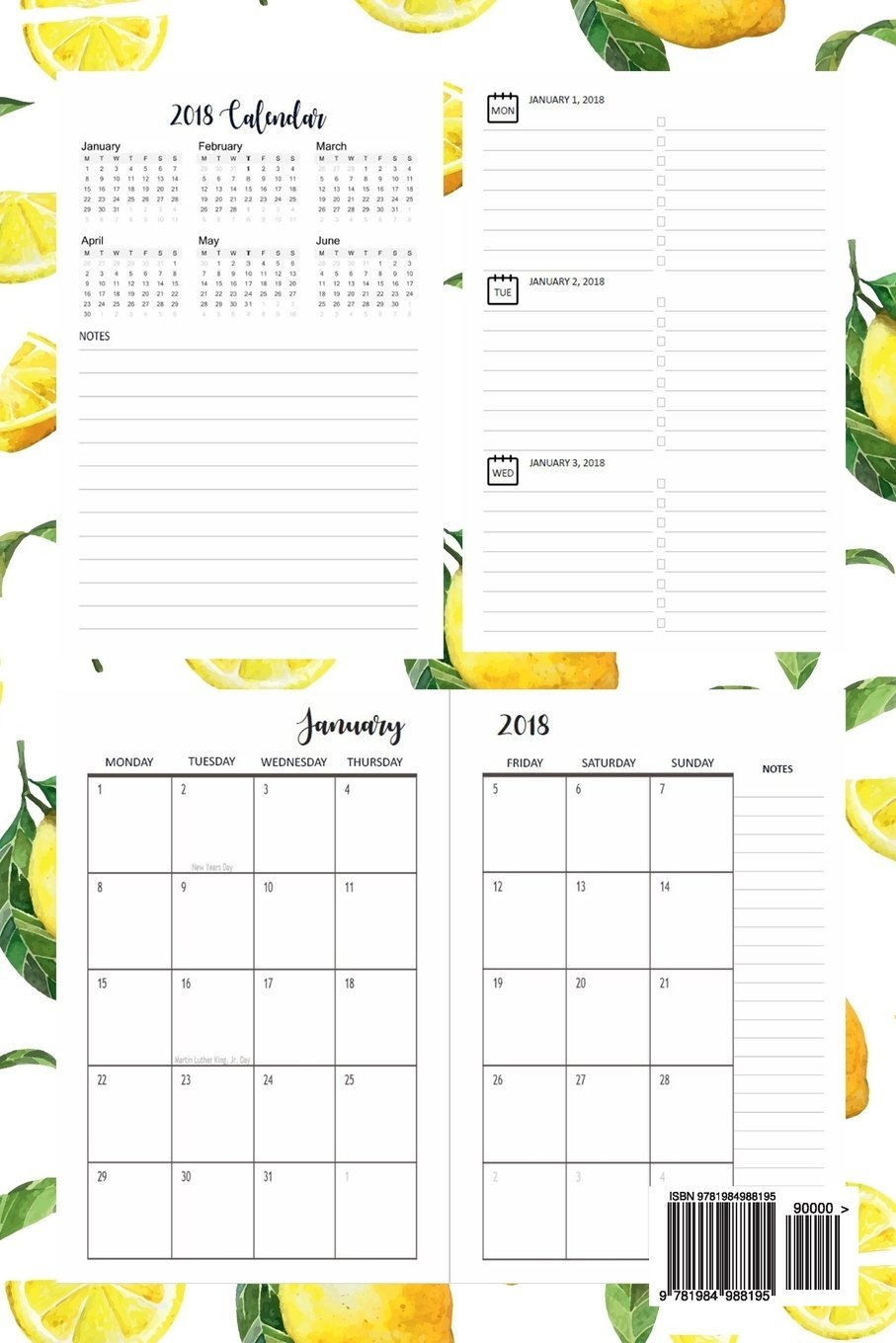2018 Monthly Planner: 2018 Planner Weekly And Monthly : 365 ...