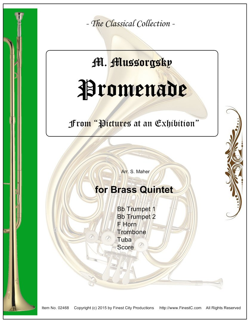 Download Promenade (Pictures at an Exhibition), for Brass Quintet PDF