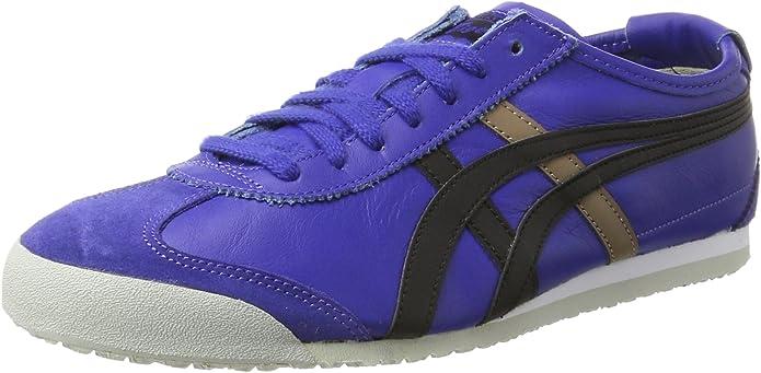 Asics Mexico 66 Sneakers Damen Herren Unisex Größe 36 - 48 Blau/Schwarz