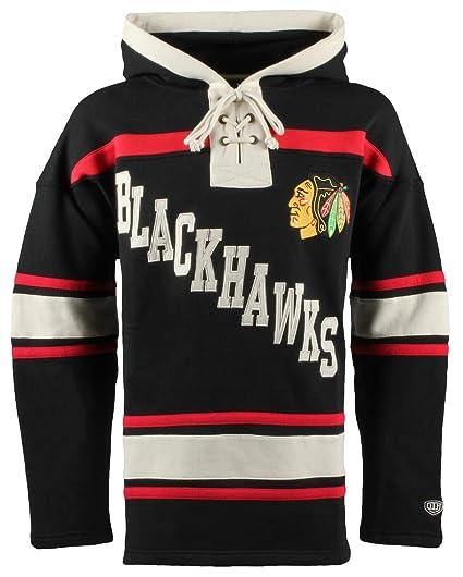 6f3413731 Old Time Hockey NHL Chicago Blackhawks Men's Original Lacer Hoodie, Small,  Black