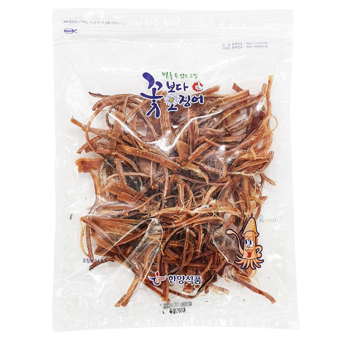 Korea Seasoned Dried Squid Snack Squid Over Flower 260g 9.1oz 꽃보다 오징어