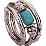 Yazilind Jewelry Vintage Twisted Rimous Alloy Arm Bangle Bracelet for Women