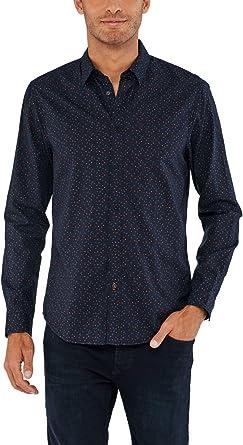 Salsa Camisa Slim fit con microprint: Amazon.es: Ropa y accesorios