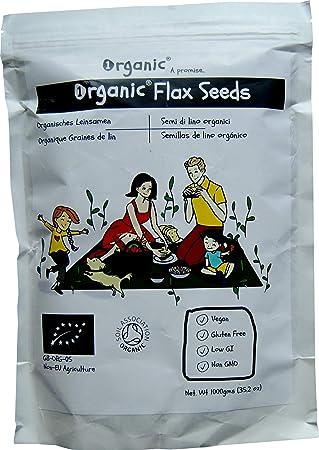 Semillas de lino/Flax Seeds/Flaxseed/Linseed, Marrón ...