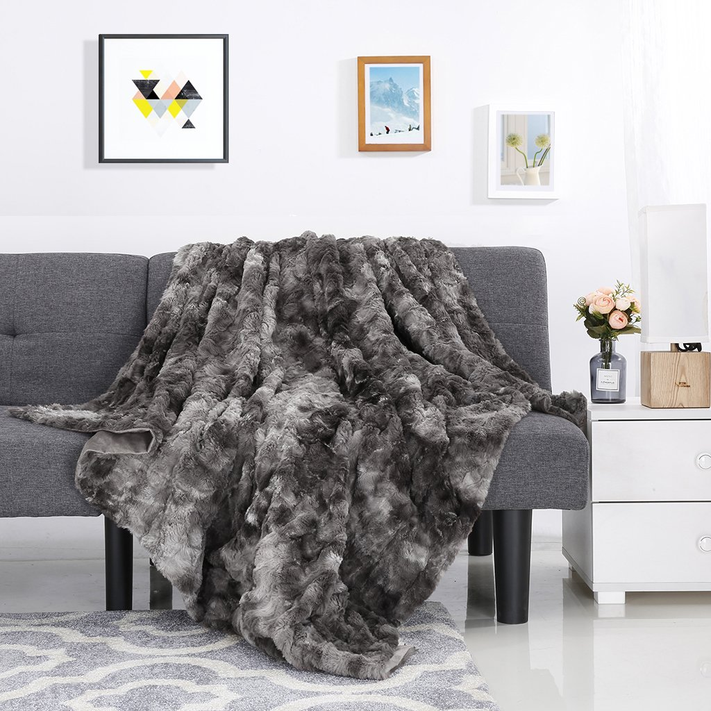 Luxury Super Soft Faux Fur Fleece Throw Blanket. home Decor. GPD