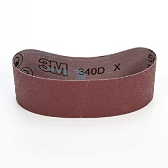 3 Width x 21 Length 3M Cloth Belt 341D Pack of 50 Brown Aluminum Oxide P100 Grit