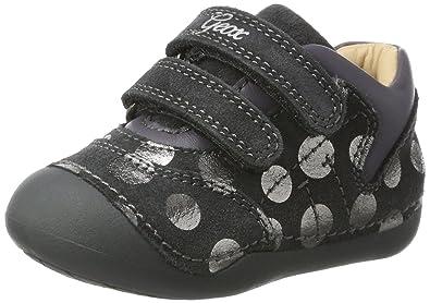 Geox B Tutim C, Sneakers Basses bébé Fille, Gris (DK Grey),