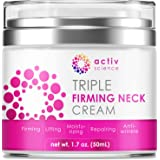 ACTIVSCIENCE Neck Firming Cream, Anti Aging Moisturizer for Neck & Décolleté, Double Chin Reducer, Skin Tightening Cream…