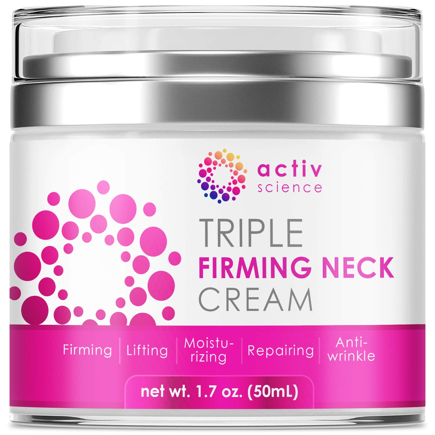 ACTIVSCIENCE Neck Firming Cream, Anti Aging Moisturizer for Neck & Décolleté, Double Chin Reducer, Skin Tightening Cream 2 fl oz.: Beauty