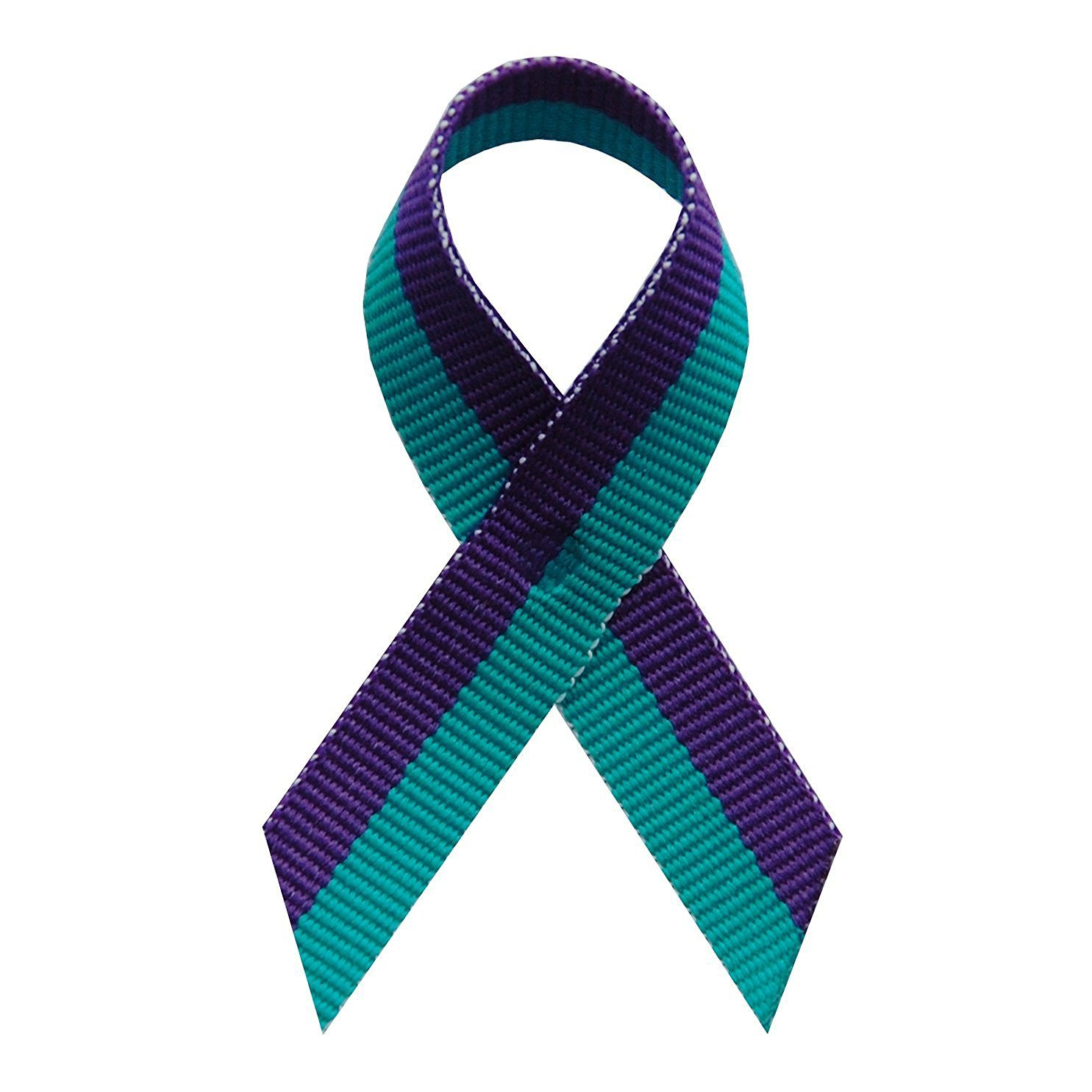 250 USA Made Suicide Prevention Awareness Ribbons - Bag of 250 Lapel Ribbons with Safety Pins (Many Colors Available) by The Ribbon Factory