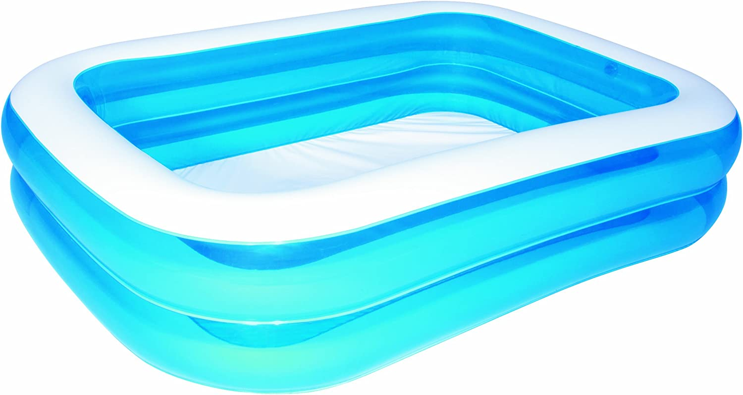 Bestway 54005 - Piscina Hinchable Infantil Blue Rectangular 201x150x51 cm: Amazon.es: Jardín