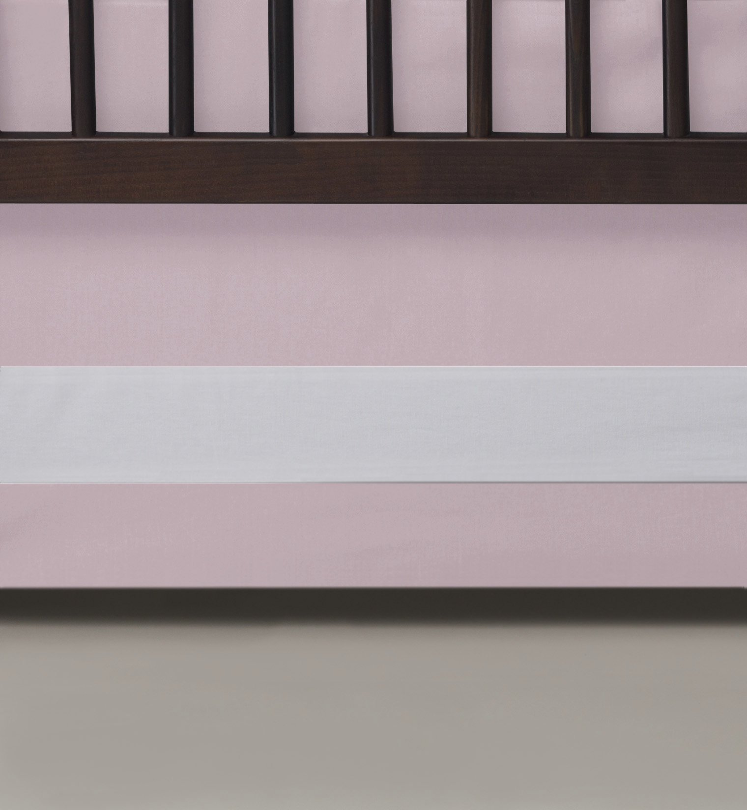 Oilo Woven Cotton Band Crib Skirt, Blush by Oilo