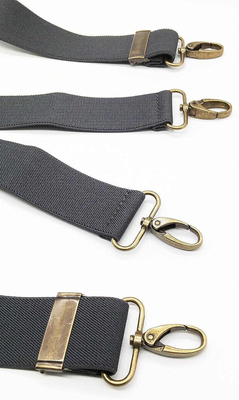 MENDENG Suspenders for Men Vintage 4 Swivel Hook Adjustable Braces Groomsmen