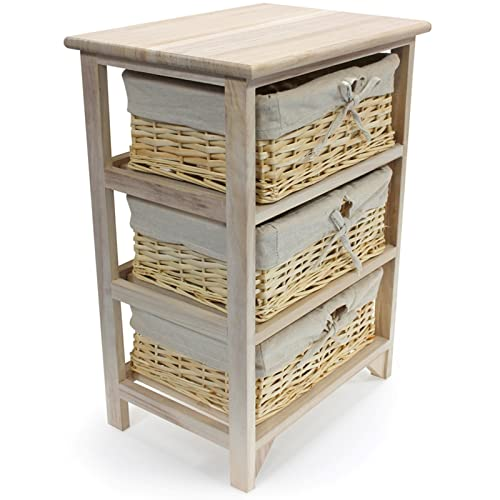 Buy Wicker Storage Basket Kitchen Drawer Style From The: CURVER My Style Shelf Unit 4 Drawers Cream Drawer Wicker