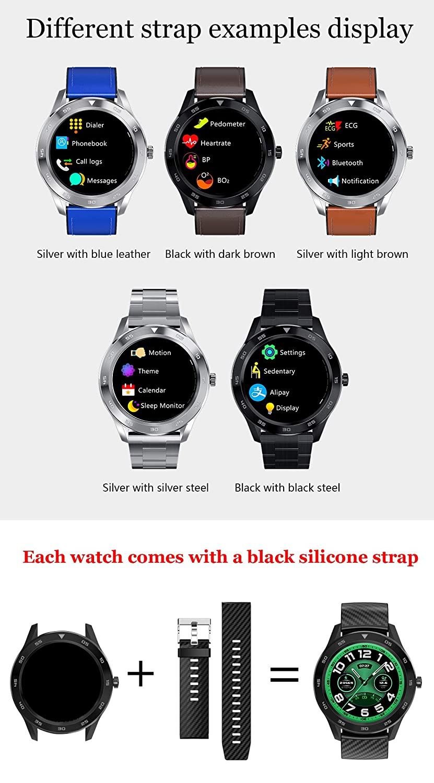 YCZX Reloj Inteligente DT98, Reloj de Pantalla en Color IP68 ...