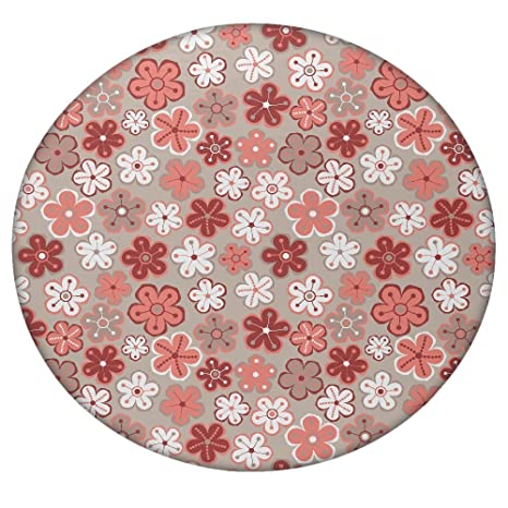 Seamless floral flores textura Daisy redondo Mandala tapiz, Hippie Hippy estilo, manta cama colcha