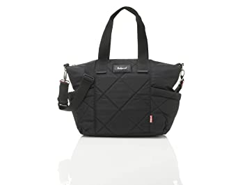 7b63a750f6ae Amazon.com   Babymel Evie Quilted Diaper Bag in Black