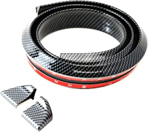iJDMTOY (1 Universal PU Trunk or Roof Lip Spoiler or Roof Spoiler Body Kit Trim Sticker, 4.5ft (145cm/1.4m), Carbon Fiber Pattern