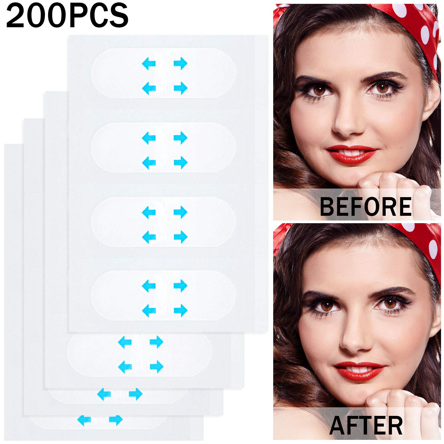 200 Pieces Face Lifting Sticker Face Lift Tape Invisible Thin Face Stickers V-Shape Face Lift Tape Make-up Face Lift Tools for Face