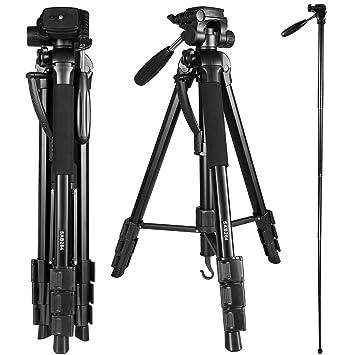 Crazefoto - Trípode de aluminio para cámara réflex digital ...