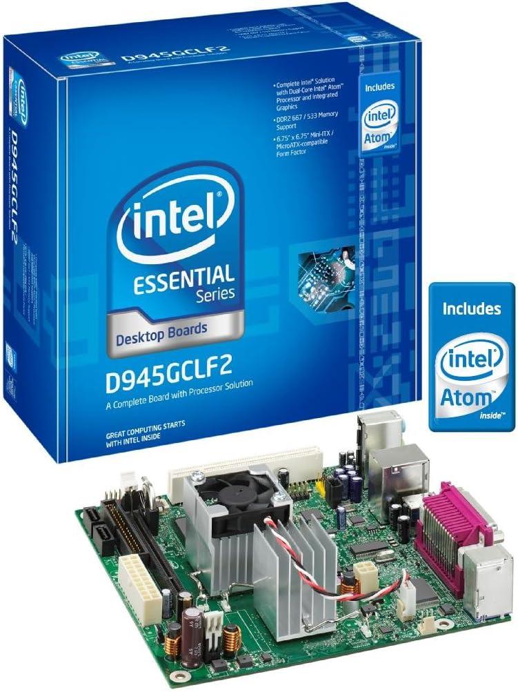 Intel D945GCLF2 Essential Series Mini-ITX DDR2 667 Intel Graphics Integrated Atom Processor Desktop Board - Retail