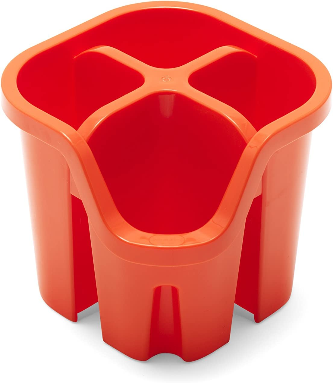 Plastique Red 14 x 14 x 13 cm Addis Panier /à ustensile Couverts avec 4/Compartiments