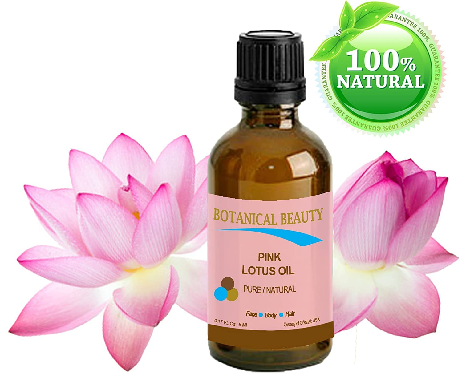 Amazon Pink Lotus Oil Pure Natural 017fl Oz 5ml For Face