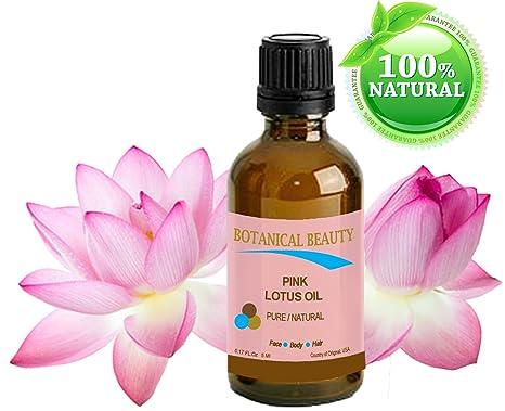 Botánico Belleza Rosa Lotus aceite puro/Natural 0.17 FL OZ – 5 ml. Para