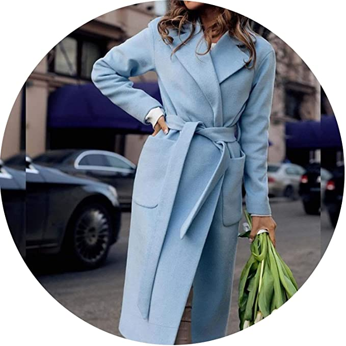 Amazon.com: Chaqueta de lana para mujer, elegante, color ...