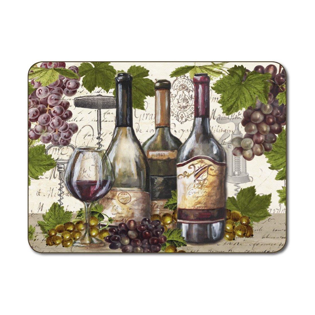 Jason Vintage Wines Placemats - 6個セット   B07BYSDB1P