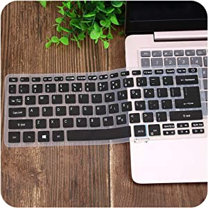Silicone Keyboard Cover Skin Compatible for Acer Swift 3 SF314 52 SF314 54 SF114 32 14 Inch I5 8250U Notebook,Black