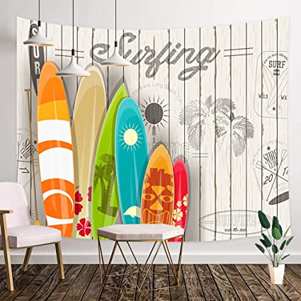 Amazon Com Nymb Summer Surf Tapestry Wall Hanging Tropical