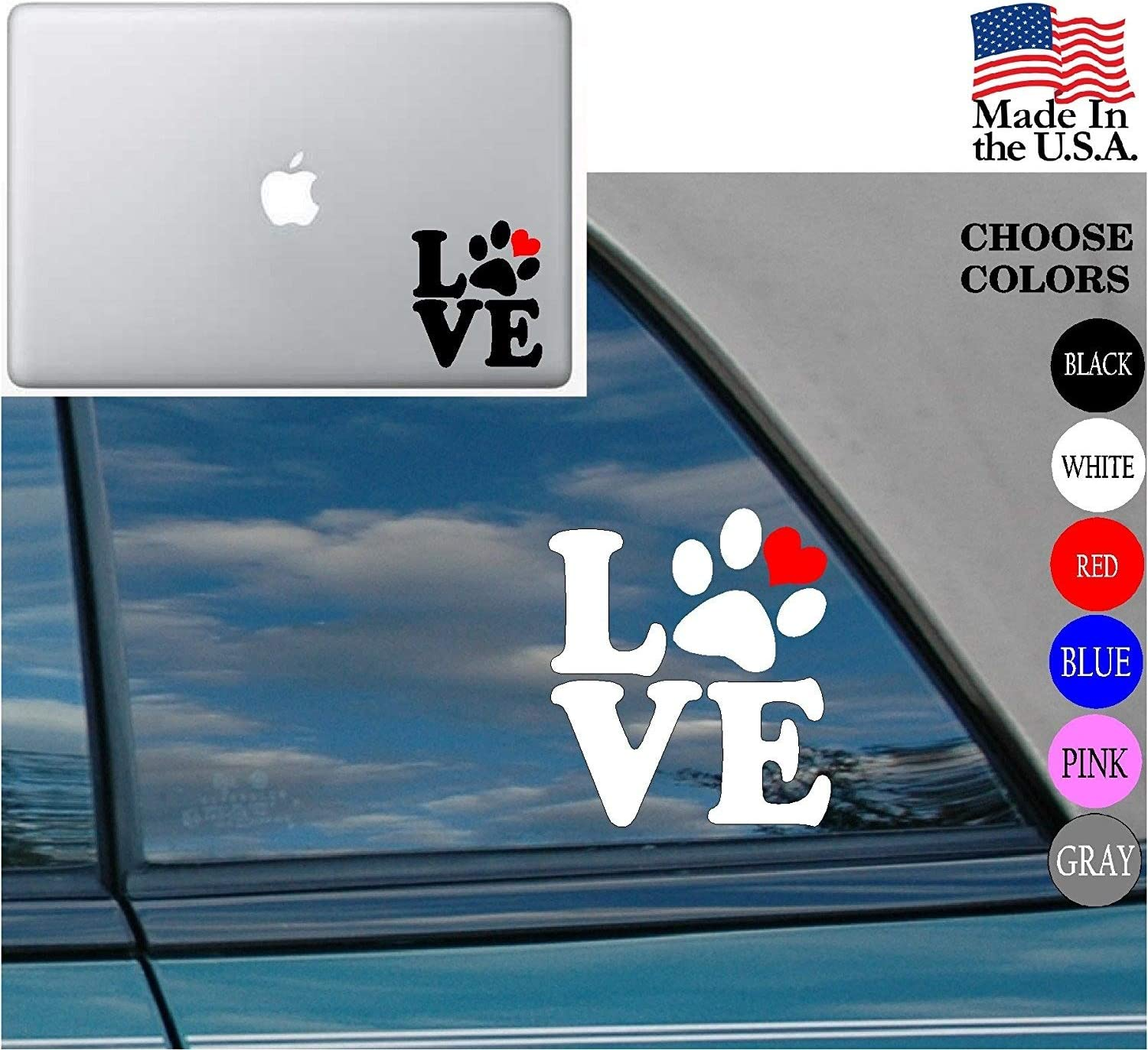Cat Dog Horse, Black Animal lover Horse Dog Cat Love Pet Vinyl Decal Sticker for Car Window Laptop 2