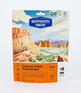 product image for Backpacker's Pantry Shepherd's Potato Stew with Beef, 2 Servings Per Pouch, Freeze Dried Food, 13 Grams of Protein, Gluten Free