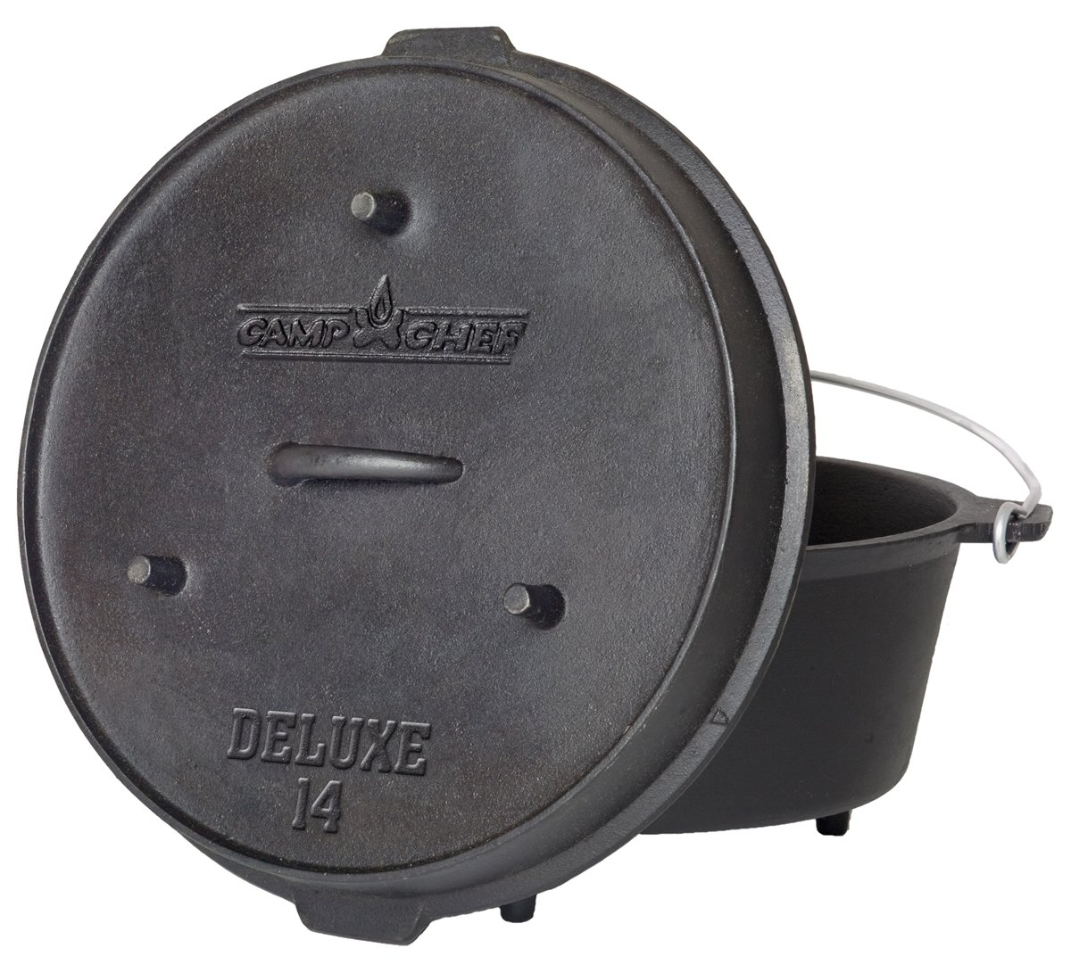 Camp Chef DO-14 Pre-Seasoned Deluxe 12-Quart 14'' Dutch Oven with Lid