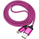 Lucoo Type C Male Connector to Type A Male Data Cable For ZTE Zmax Pro Z981(Hot Pink)