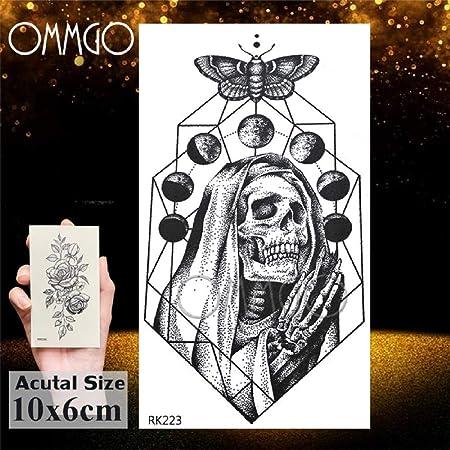 Real 3D Wolf Face Design tatuaje temporal pegatina feroz tatuajes ...