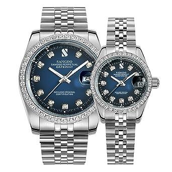Amazon.com: Pareja de Relojes Hombres Y Mujeres Reloj ...