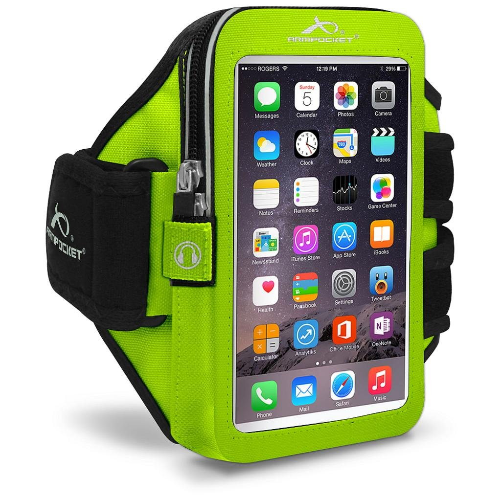 Armpocket Ultra i-35 armband for iPhone 7/6s/6, Galaxy S8/S7S/6, S7/6 edge or Google Pixel with slim cases or other phones up to 6.0''