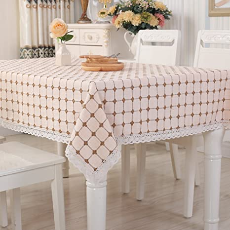 RUOYOU Linen Tablecloths,European Style Table Cover Dinner Table Table Cloth  Modern Flax Table