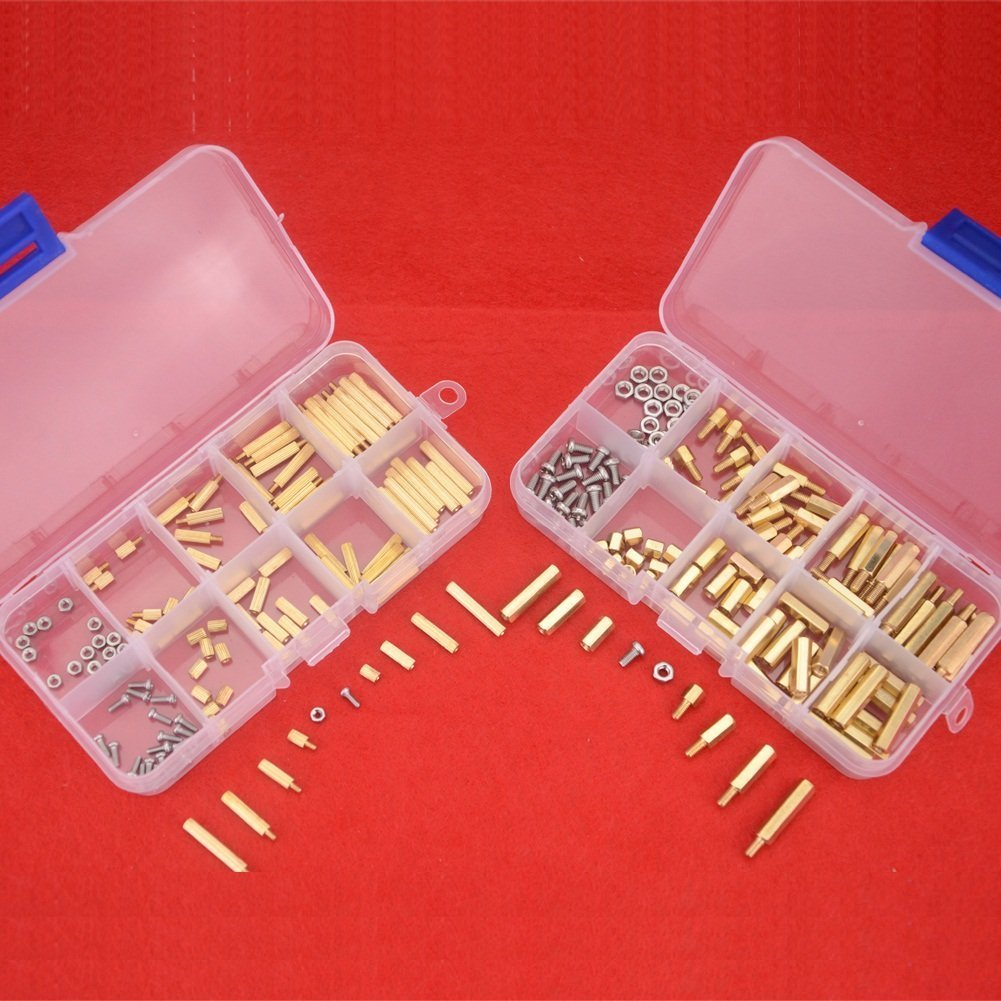 Hilitchi 240 M2 M3 Brass Male Female Spacer Standoff Screw Nuts Assortment Kit