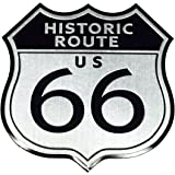 【Cat fight】 アルミ製 エンブレム U.S. Route 66 ルート66 レトロ ステッカー