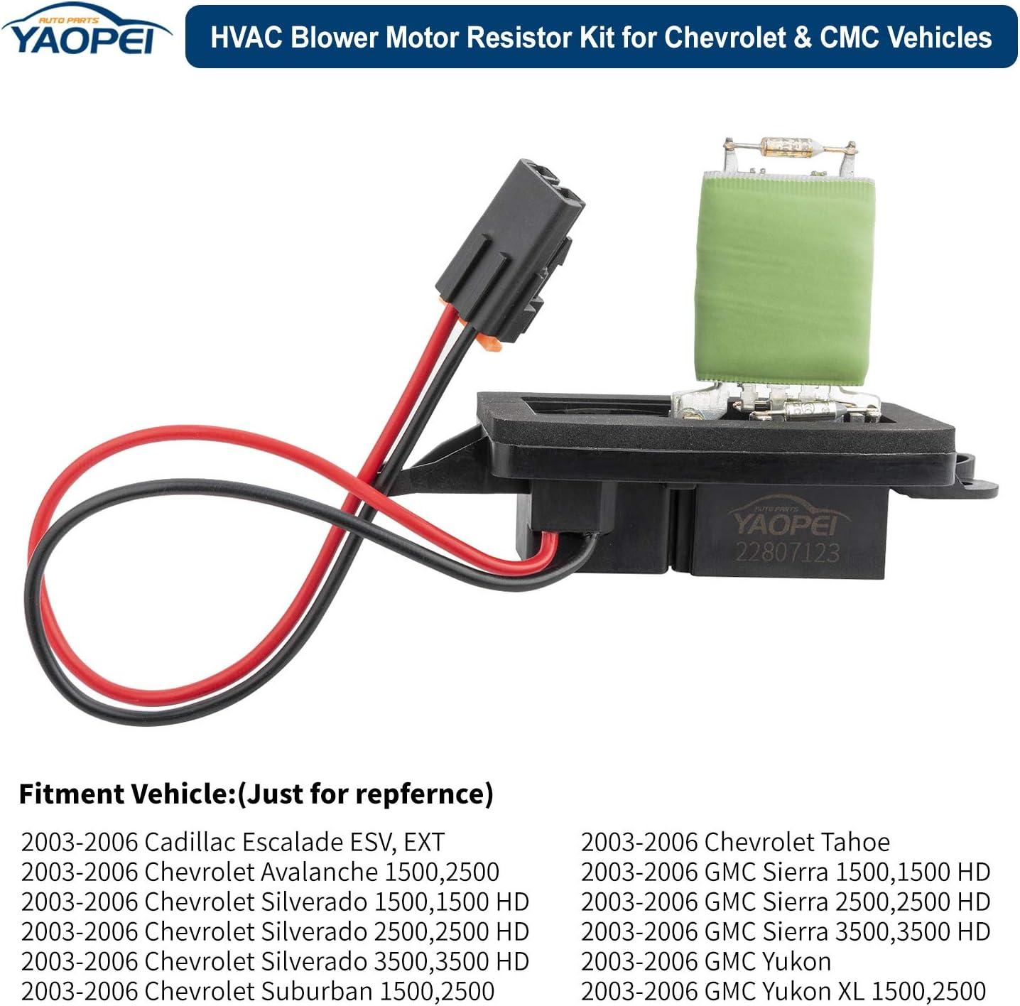 HVAC Blower Motor Control Module Resistor 15-81086 fits Chevroleet ...