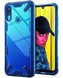 【Ringke】HUAWEI nova lite 3 ケース/Huawei P Smart ケース (2019) 対応 コスパ最高 ストラップホール 落下衝撃吸収 [米軍MIL規格取得] TPU PC 2重構造 スマホケース 吸収耐衝撃カバー 背面クリア Qi ワイヤレス充電対応 Fusion-X (Space Blue/スペースブルー) nova lite 3 ケース/P Smart ケース