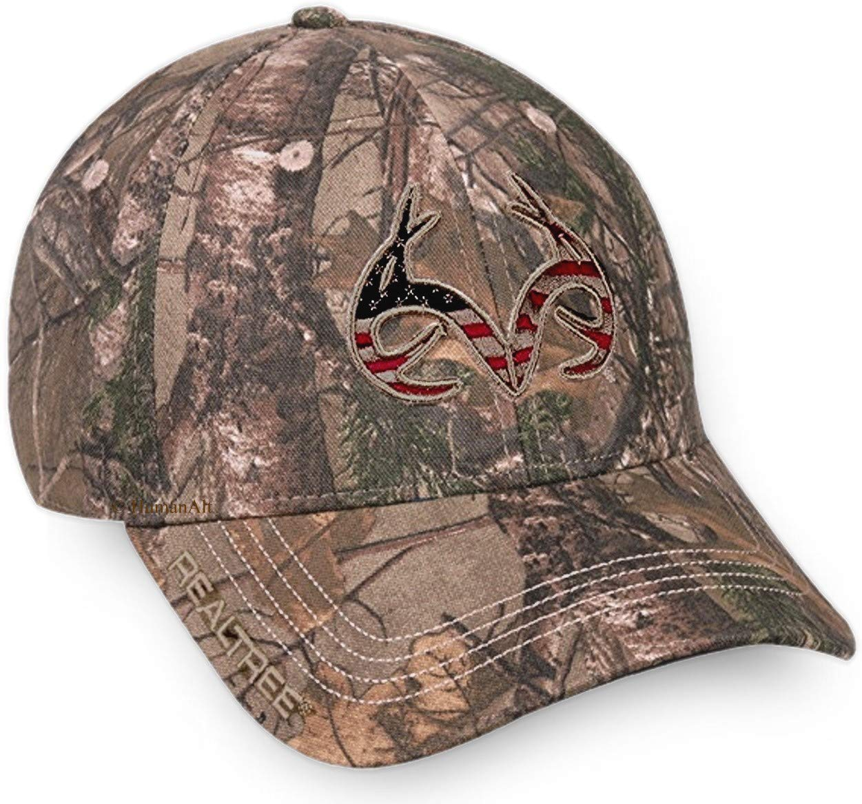 Realtree Adjustable Closure Americana Logo Cap, Realtree Xtra Camo