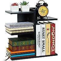 PAG Wood Desktop Bookshelf Assembled Countertop Bookcase Literature Holder Accessories Display Rack Office Supplies Desk…