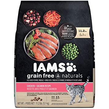 Amazon iams grain free naturals chicken and salmon recipe dry iams grain free naturals chicken and salmon recipe dry cat food 112 pounds forumfinder Choice Image