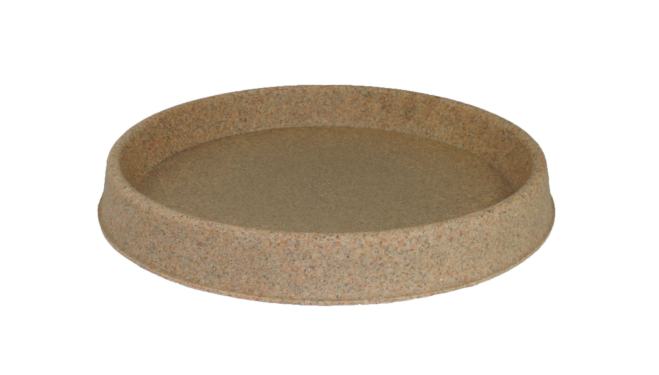 Tusco Products TR26SS Round Saucer, 26-Inch Diameter, Sandstone by Tusco Products