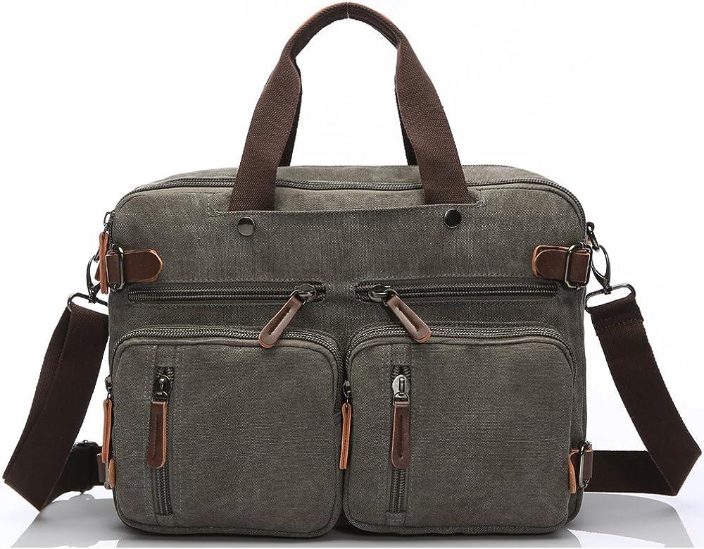 Laptop Briefcase,15.6 Inch Messenger Bag Hybrid Pack Computer Case Laptop Shoulder Bag Durable Tablet Sleeve for Men,Women